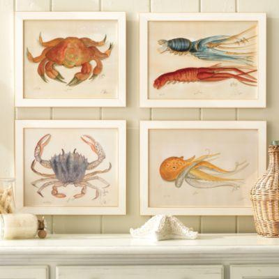Ocean Life Water Color Prints