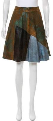 3.1 Phillip Lim Suede Leather Skirt