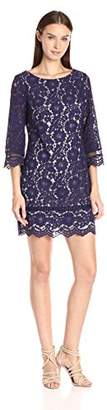 Vince Camuto Women's Lace Sleeve Shift Dress