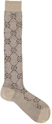 Gucci Gg Supreme Lurex Socks