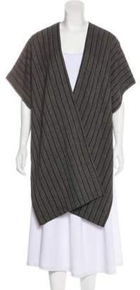eskandar Wool-Blend Open Front Cardigan