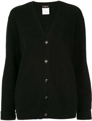 Chanel Pre-Owned textured relaxed cardigan