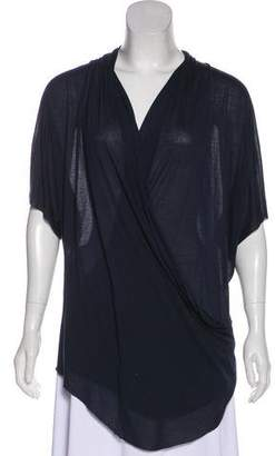 Helmut Lang Short Sleeve V-Neck Top