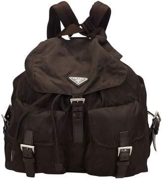 Prada Vintage Brown Synthetic Backpacks