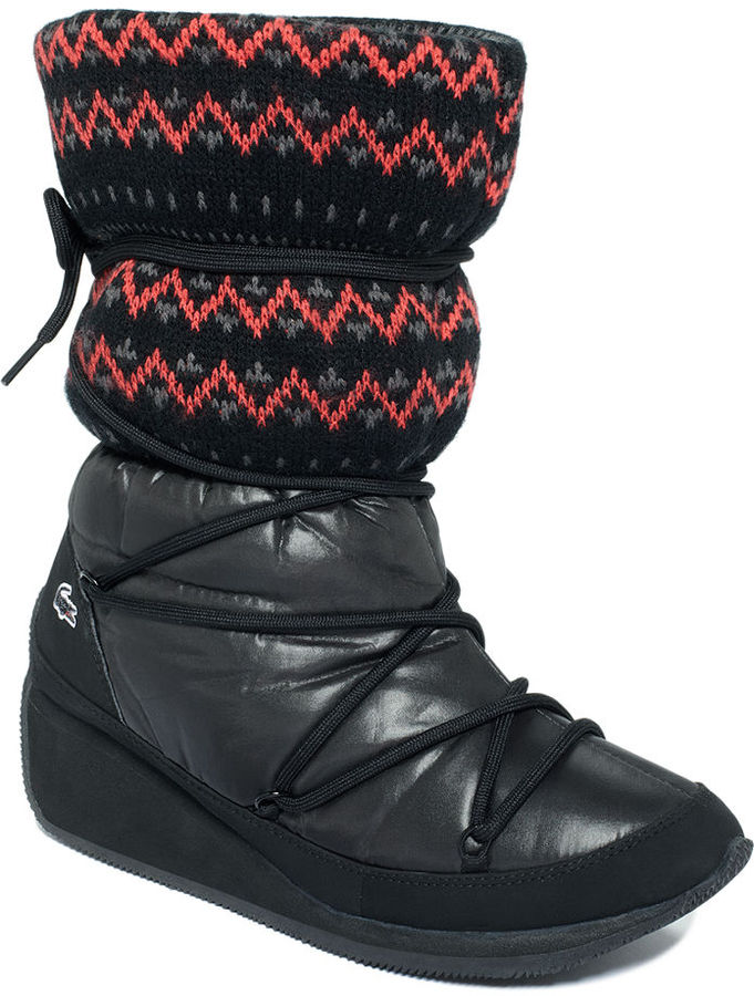 Lacoste Women's Booties, Arbonne Ski Knit 5 Cold Weather Booties