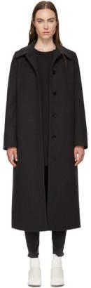 MM6 MAISON MARGIELA Grey Long Wool Coat