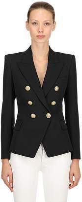 Balmain Double Breasted Cool Wool Blazer