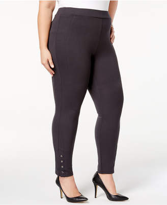 Style&Co. Style & Co Plus Size Ponte Knit Snap-Bottom Leggings
