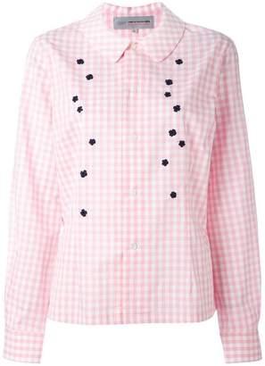 Comme des Garcons applique checked shirt