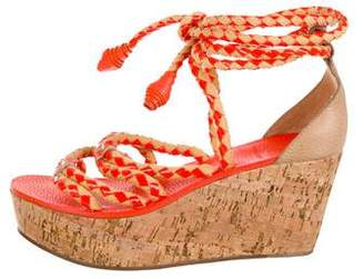 Tory Burch Lace-Up Wedge Sandals