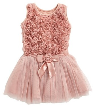 Infant Girl's Popatu Ribbon Rosette Tutu Dress $34 thestylecure.com