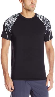 Head Men's Marble Printed Performace Crew Neck Top