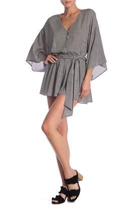 Dress Forum Striped 3/4 Sleeve Romper