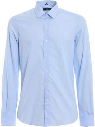 Fay Light Blue Cotton Poplin Classic Shirt