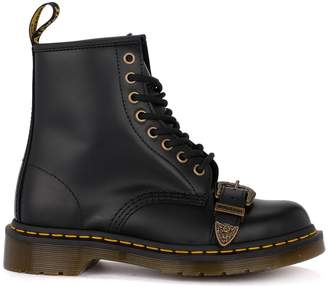 da1ca3beddfe8 Dr. Martens 1460 Buckle Black Leather Ankle Boots With Buckle