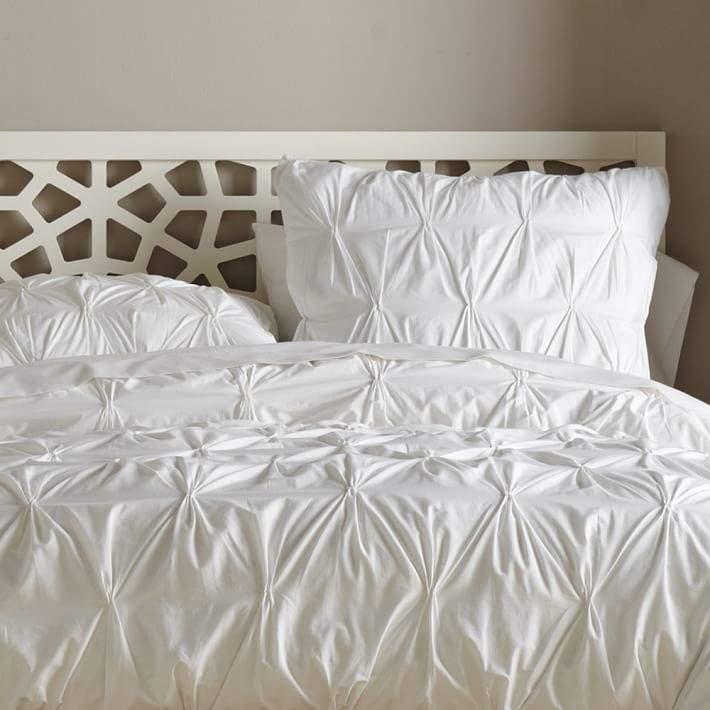 Organic Pintuck Duvet Cover - White