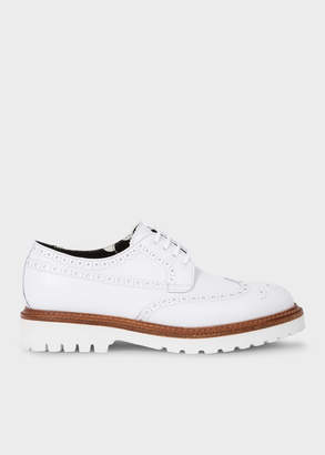 Paul Smith Men's White Leather 'Vegas' Brogues