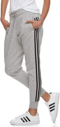 adidas Women's Fleece Striped Jogger Pants