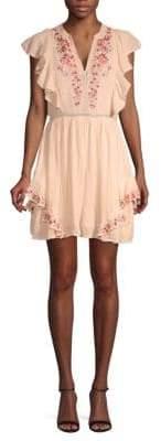 Love Sam Ruffled Floral Cotton Dress