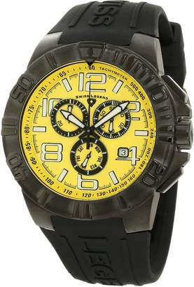 Swiss Legend Men's 40118-BB-07 Super Shield Chronograph Dial Watch with Black Silicone Strap
