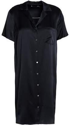 Alexander Wang Silk-Satin Mini Shirt Dress