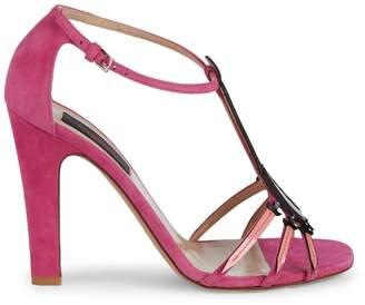 Valentino Broken Heart Pendant High-Heel Sandals