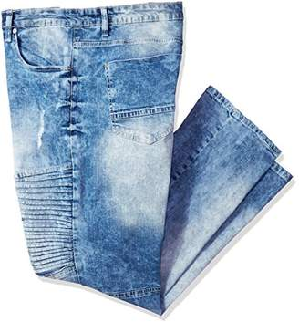 Southpole Men's Big and Tall Bt Basic Flex Slim Straight Stretch Fit Washed Denim Pants