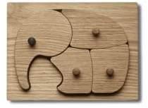 Georg Jensen Four-Piece Elephant Puzzle Set