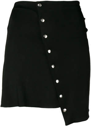 Paco Rabanne asymmetric button-down mini skirt