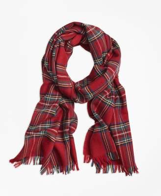 Brooks Brothers Tartan Wool Scarf