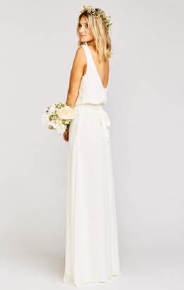 Show Me Your Mumu Bridesmaids Sash ~ Wedding Cake Chiffon
