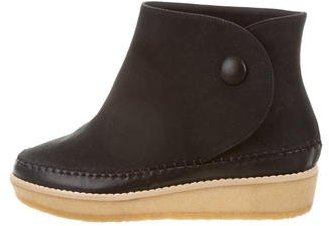 Stella McCartney Suede Wedge Ankle Boots