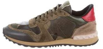 Valentino Camo Low-Top Sneakers