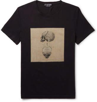 Alexander McQueen Slim-Fit Printed Cotton-Jersey T-Shirt - Men - Black
