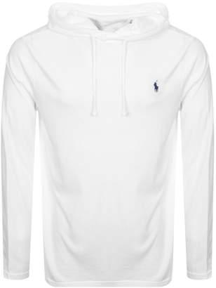 Ralph Lauren Long Sleeved Hooded T Shirt White