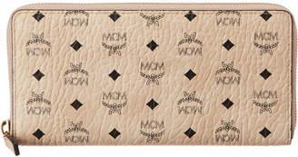 MCM Original Visetos Zip Around Wallet