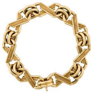 Tiffany & Co. 18K Schlumberger X Link Bracelet $5,250 thestylecure.com