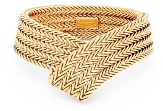 Balenciaga Chain Mesh Cuff Bracelet - Womens - Gold