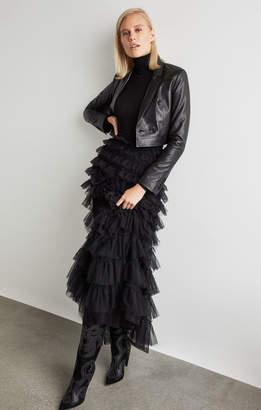 BCBGMAXAZRIA Tiered Ruffle Maxi Skirt