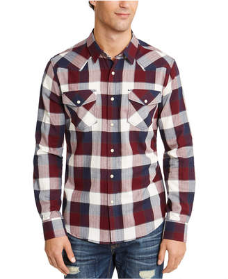 American Rag Men David Western Check Shirt