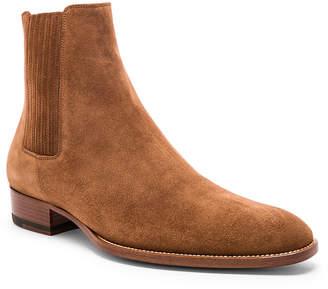 Saint Laurent Suede Wyatt 30 Chelsea Boots