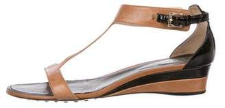 Tod's Leather Low-Heel Sandals