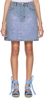 Acne Studios Blue Sharmayne Denim Miniskirt