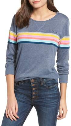 Rip Curl Paradiso Stripe Detail Crewneck Sweatshirt