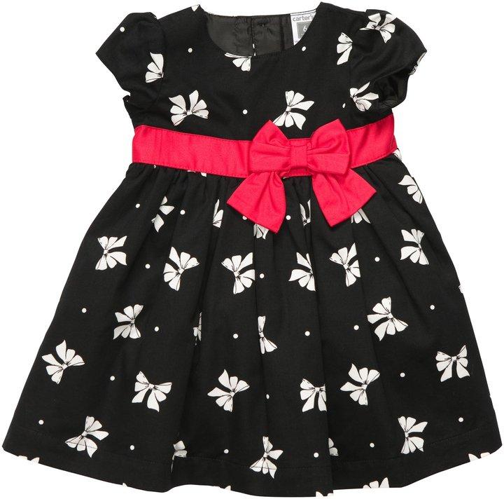 Carter's Bow Print Dress w/ Bow