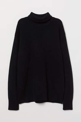 H&M Cashmere-blend Turtleneck - Black