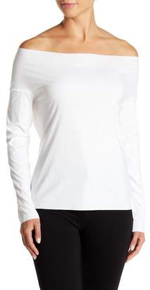 Wolford Pure Cut Off-the-Shoulder Pullover