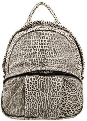 Alexander Wang Embossed Leather Backpack black Embossed Leather Backpack