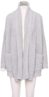 John & Jenn John + Jenn JOHN AND JENN Shaker Shawl Cardigan Grey Twist MEDIUM-LARGE
