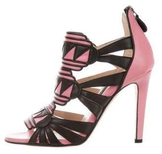 Chrissie Morris Alana Leather Sandals Black Alana Leather Sandals